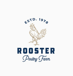 rooster poultry farm abstract sign symbol vector image