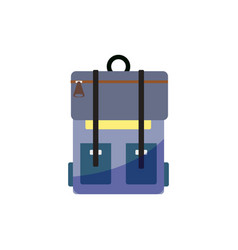 rucksack graphic design template isolated vector image