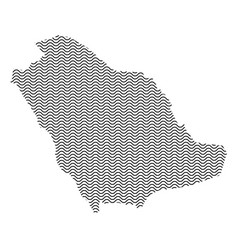 saudi arabia map country abstract silhouette of vector image