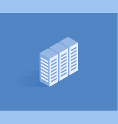 server data web hosting isometric icon vector image