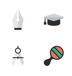 Set of simple education icons vector