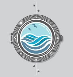 Ship porthole image vector