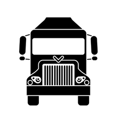silhouette truck delivery shipping cargo vector image
