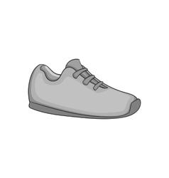 Sneaker icon black monochrome style vector image