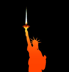 statue of liberty candle vector image