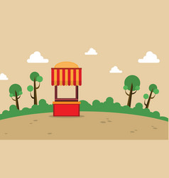 street stall on the hill landscape vector image