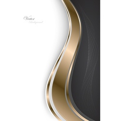 Stylish abstract gold background vector