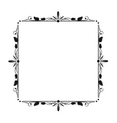 stylish elegant vintage frame with floral ornament vector image