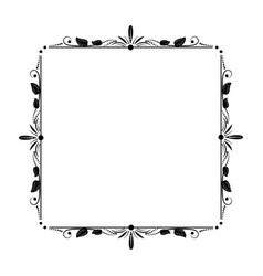 stylish elegant vintage frame with floral ornament vector image