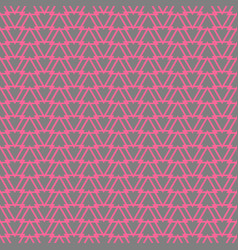 Tile pattern pink triangles on grey background vector