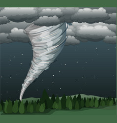 tornado in landscape scene vector image
