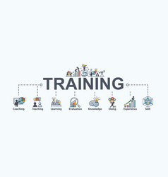 Training banner web icon for business and seminar vector
