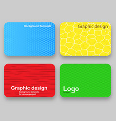 trendy background for a credit card covers vector image