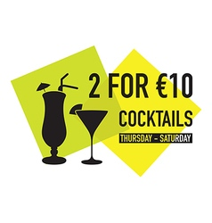 Two for ten euro deal vector