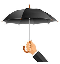 umbrella in hand vector image