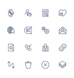 user different interface icons vector image
