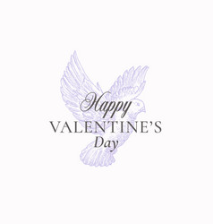 valentines day abstract greeting sign vector image