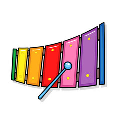 Xylophone music toy cartoon vector