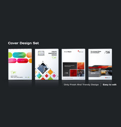 Abstract business template set brochure vector