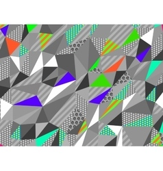 Color abstract low-poly polygonal triangular vector image