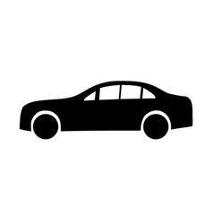 Limousine black silhouettes vector