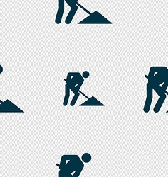 repair of road construction work icon sign vector image
