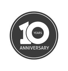 Years 10 anniversary sticker 10th year vector
