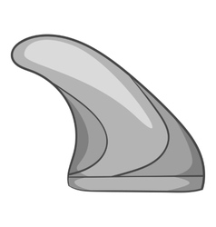 Surfing fin icon gray monochrome style vector image