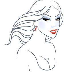 women beauty face vector image vector image