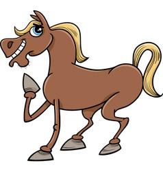 farm horse cartoon vector image vector image