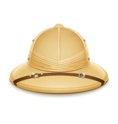 pith helmet hat for safari vector image vector image