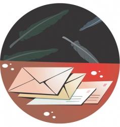quills vector image