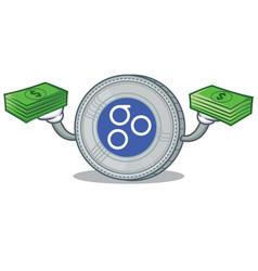 with money omesigo coin character cartoon vector image