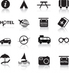 global travel icons vector image