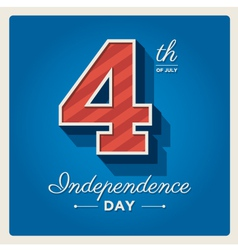 Happy independence day cards USA 4 th of July vector image