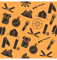 Hunting flat collage vector image vector image