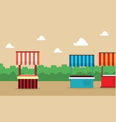 lined street stall background landscape vector image