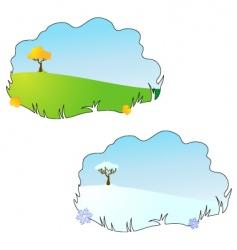 season autumn and winter vector image