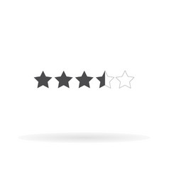 5 star icon for web business finance and vector image