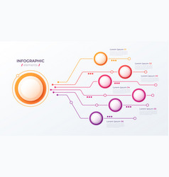 6 options infographic design structure vector