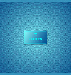 abstract blue hexagon border pattern background vector image