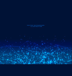 Abstract futuristic digital network particles vector