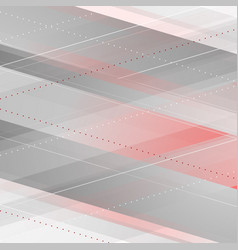 abstract red grey tech geometric background vector image