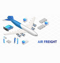 Air freight delivery poster vector