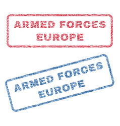 Armed forces europe textile stamps vector