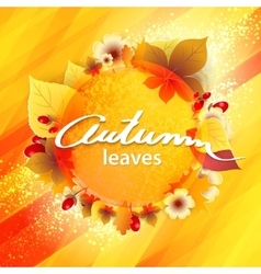 Autumn Yellow Background vector image
