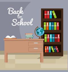 back to school classroom scene vector image