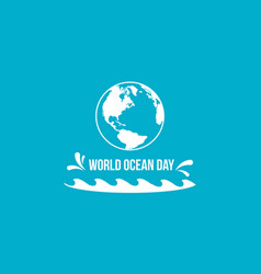 Background style for world ocean day vector
