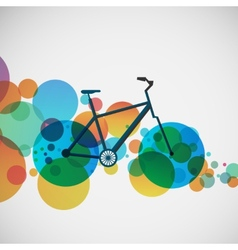 Bicycle on a background of bright beads vector