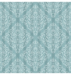 Blue baroque bright pattern vector image